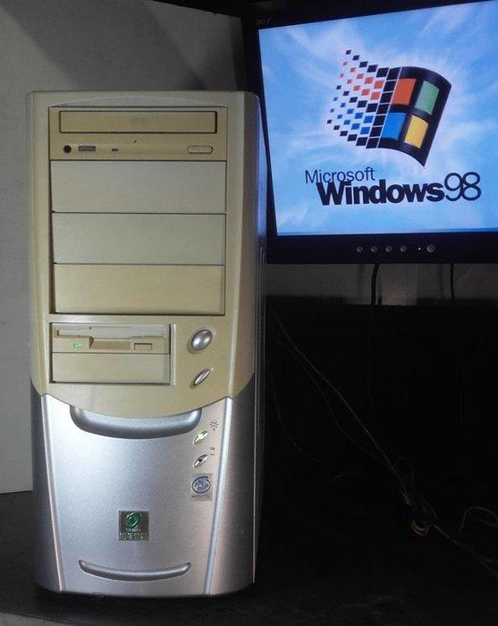 【窮人電腦】跑Windows 98系統!自組華碩ISA插槽工業主機出清!雙北桃園親送,外縣可寄!