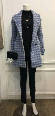 全新正韓韓國格子氣質長版外套大衣風衣 梨花林鴒花猴