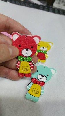 編號C61---木片系列寶貝熊木片