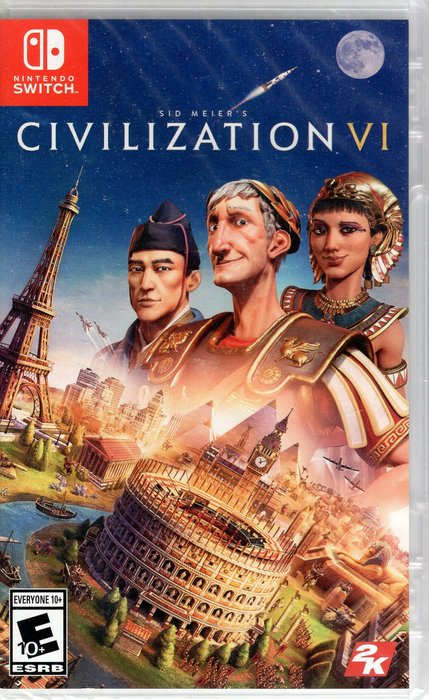 現貨中SWITCH遊戲NS 文明帝國 6 Sid Meier's Civilization 6 中文版【板橋魔力】