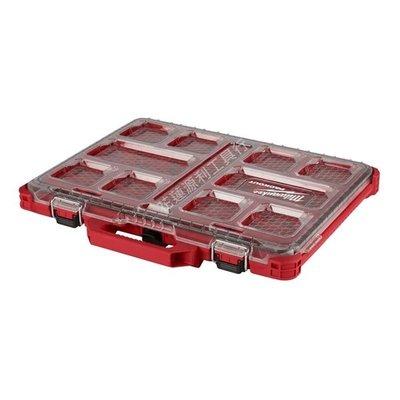 【花蓮源利】零件箱 Milwaukee 米沃奇 美沃奇 48-22-8431 配套智能收納箱 薄大 可堆疊 工具盒