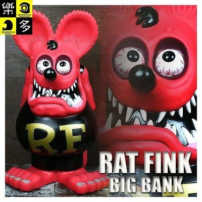 (I LOVE樂多)經典USA Rat Fink老鼠芬克60CM存錢筒 適合居家店家裝置藝術車店mooneyes