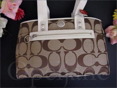 真品 Coach Tote 基本款肩背包手提包托特包可增加厚度可放A4 免運費 愛Coach包包