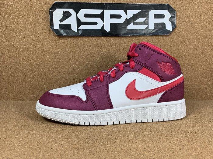【Asper】Air Jordan 1 Mid GS 情人節 女鞋 555112-661