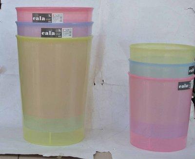 ☆優達 ☆卡拉垃圾桶 663 資源回收桶 透明收納桶 塑膠桶 置物桶 分類桶 整理桶14.5L 12入950元