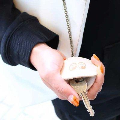 (I LOVE樂多)MOONEYES Leather Chain Key Case 鋼印LOGO皮製腰掛鑰匙包