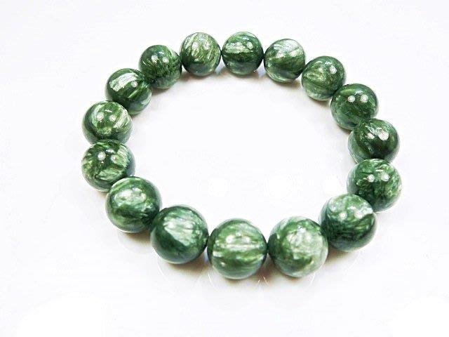 ((上品堂))頂級天然綠龍晶手珠,重38.2克.增強並活絡七輪的能量