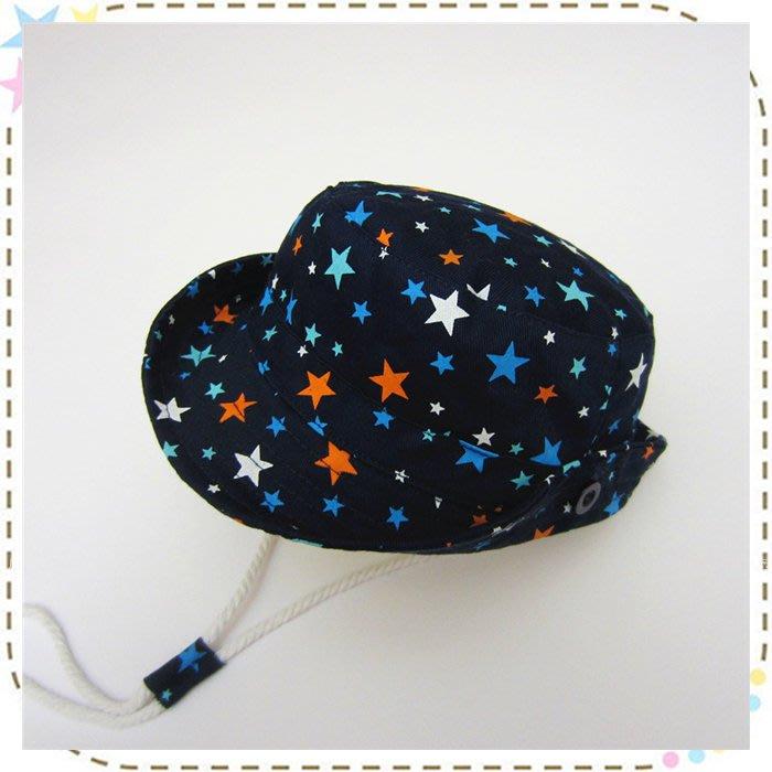 貝克比比屋☆夏天寶寶遮陽帽 、兒童遮陽漁夫帽/星星漁夫帽*44cm、46cm、48cm、50cm、52cm