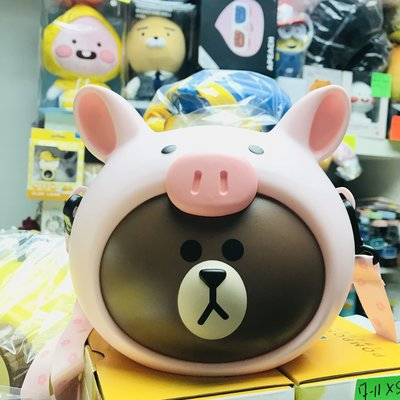 全新 熱賣 戲院 line friends JUNGLE BROWN Piggy 小豬款 Brown 熊大 爆谷桶 正品 現貨(可旺角門市自取)