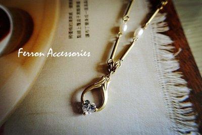 Ferron Accessories  F103 蝶語系列  項鍊 訂製 Handmade 復古 歐美 黃銅