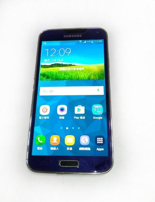 ☆手機寶藏點☆ SAMSUNG GALAXY S5 16G 支援4G 二手 無背蓋 羅H05