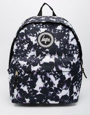 【T4H】Hype Monotone Backpack Black 黑色 滿版 潑墨 休閒 男女 百搭 後背包【現貨】