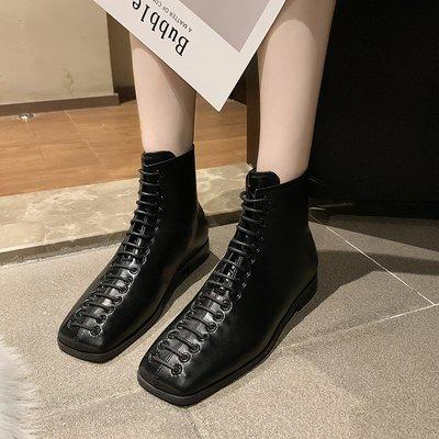 保暖女鞋 機車靴 馬丁靴 時尚百搭帥氣馬丁靴女英倫風百搭女靴瘦瘦短靴春秋切爾西單靴
