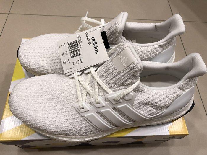 adidas ULTRA BOOST 4.0 WHITE 全白 慢跑鞋 耐磨 馬牌 編織 BB6168 US11