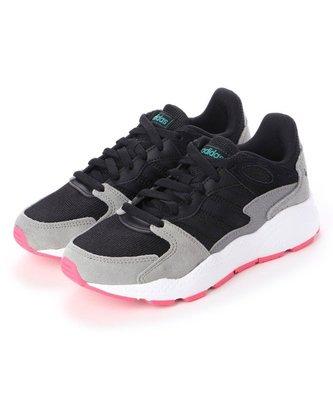 =E.P=ADIDAS CRAZYCHAOS 休閒慢跑 麂皮 網布 拼接 復古 黑白 灰桃紅 女鞋 EF1060