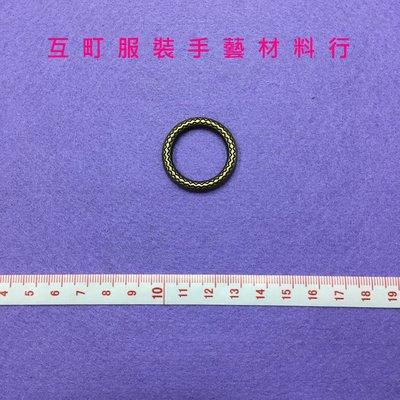 【互町手藝】-拼布/縫紉/手工藝/皮件五金用品 ※ 古銅雕花圓型環 ※ (22mm-2入裝)