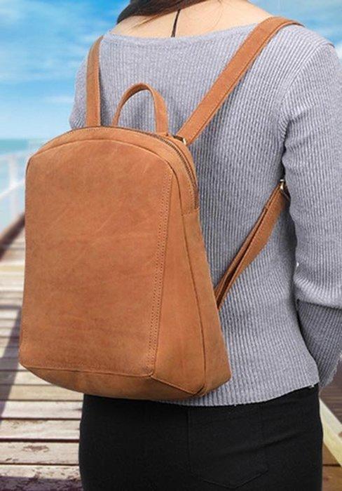 後背包 真皮包包 免運費 側背包 斜背包 書包 瘋馬皮 JY 8663【FQ包包】