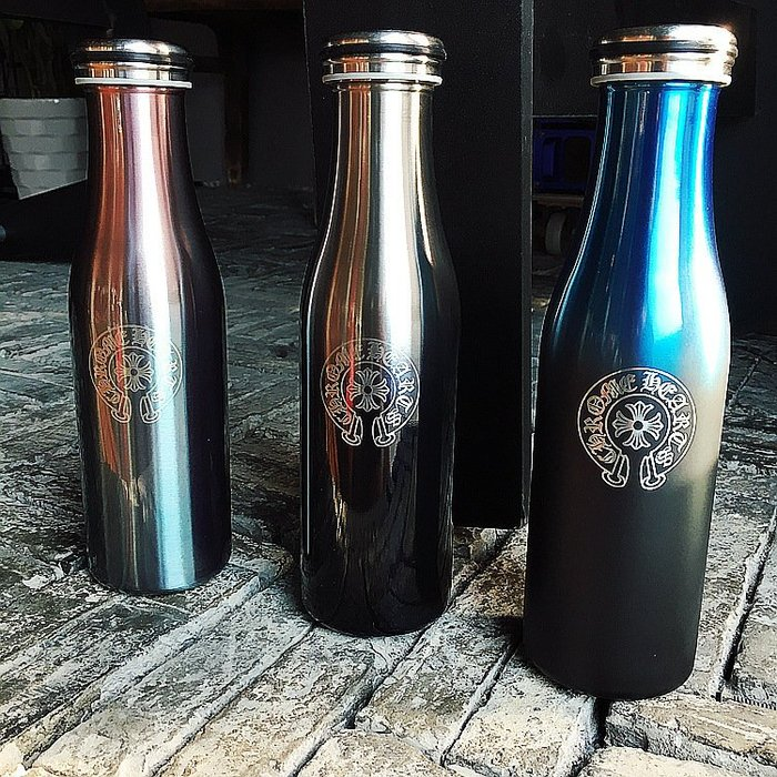 Sugar Korea100% 新款 美國潮 牌克羅心漸變藍黑保溫杯 隨手花瓶水杯 不銹鋼保溫