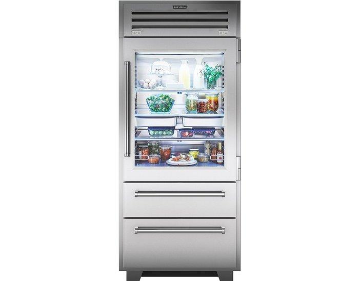 唯鼎國際【美國Sub-zero冰箱】ICBPRO3650G-LH/RH 全機不鏽鋼玻璃門冰箱