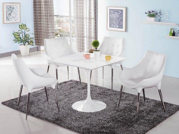 ~白色造型2.6尺正方洽談休閒桌椅組1836364-1A~巧匠家具批發廣場~