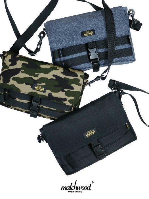 { POISON } MATCHWOOD SACOCHE BAG 防潑水機能性斜背小物袋 側背肩背手拿小包