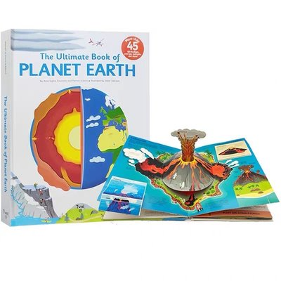 The Ultimate Book of Planet Earth 精裝 立體機關操作書 地球的奧秘 STEM啓蒙科普繪本 Twirl 法國藝術品