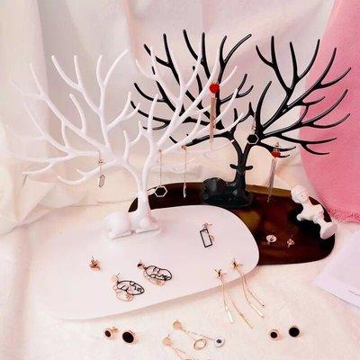 聖誕節 鹿角 搞怪   耳環 首飾 展示架 收納架
