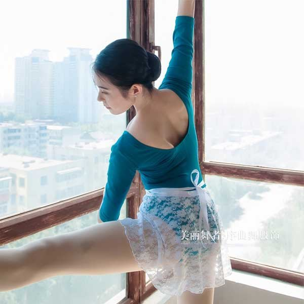 5Cgo【鴿樓】會員有優惠 522554065063 芭蕾五分袖後抛縫 舞蹈服 練功服 芭蕾舞服 行體服 舍賓服