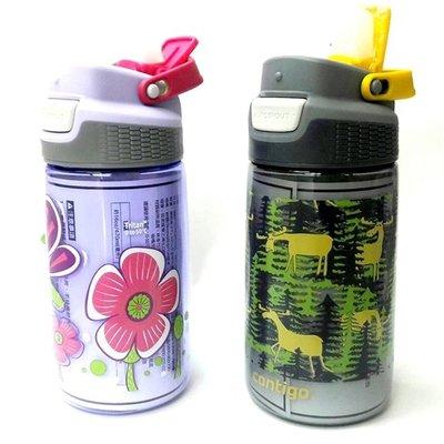 Contigo兒童吸管瓶470ml(蜻蜓/鹿)