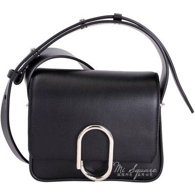 米蘭廣場3.1 Phillip Lim Alix Flap 金屬迴紋針造型斜背包(Mini/ 黑色)1710739-01 台中市