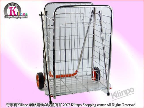[奇寧寶生活館]330017-00 攜帶式菜籃車二輪/行李車.折疊購物車.折疊推車.手推車.手拉車