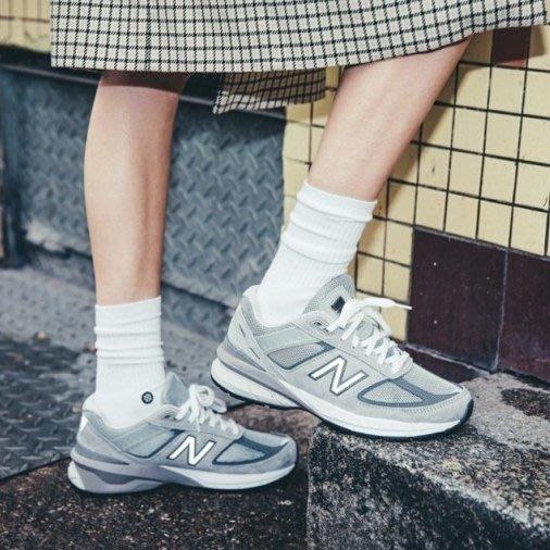 GOSPEL【New Balance 990 V5 】灰色 美國製 女鞋 W990GL5