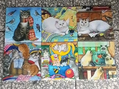 ~浪漫349~32款  單片價可愛寫實貓咪魚缸印刷木板畫小品掛畫 18~  lt b  gt 0  lt b  gt .9~18cm