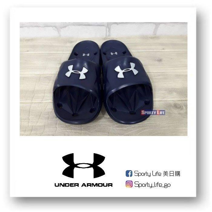 【SL美日購】UNDER ARMOUR LOCKER III SLIDE 運動拖鞋 拖鞋 防水 止滑 深藍 UA拖鞋