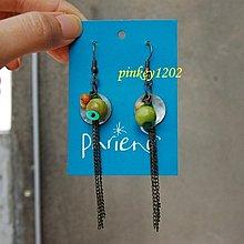 百貨公司專櫃phriend木珠+貝殼耳環~1元起標無底價!