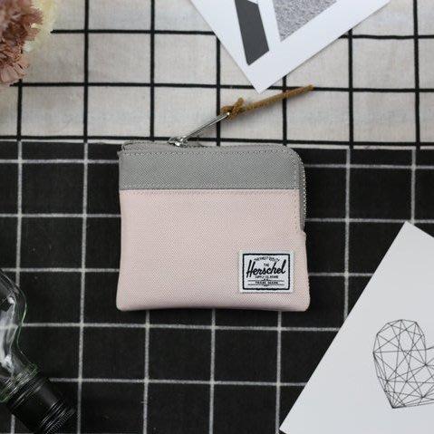 0d47320b43 KS▸Herschel JOHNNY WALLET 灰粉紅短夾信用卡皮夾拉鍊零錢包