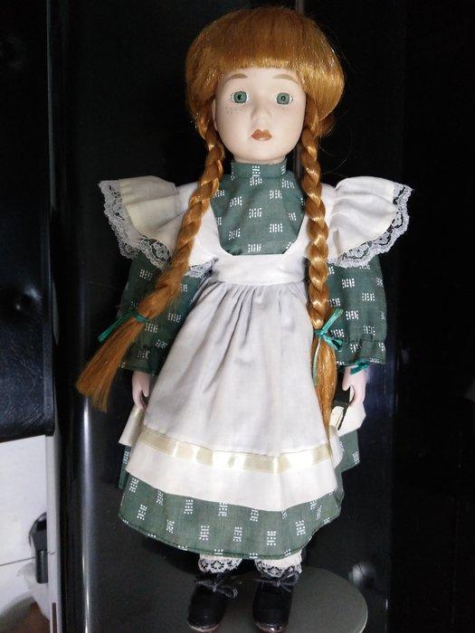 陶瓷娃娃之金色雙辮子雀斑娃娃愛看書