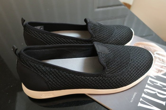 *Beauty*Hush Puppie黑色針織休閒鞋 US8W/EU39 號  1500  元 WE19
