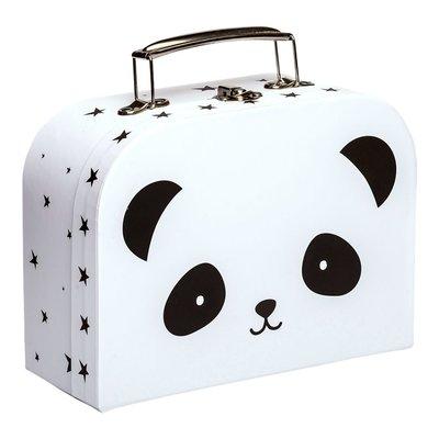【現貨】QB選物 ❤ 荷蘭|a Little Lovely Company ❤ 療癒酷黑熊貓手提收納箱