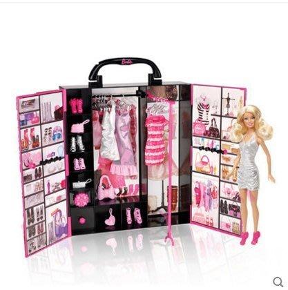 【興達生活】Barbie夢幻衣櫥手提禮包芭比娃娃換裝套裝大禮盒公主女孩兒童禮物