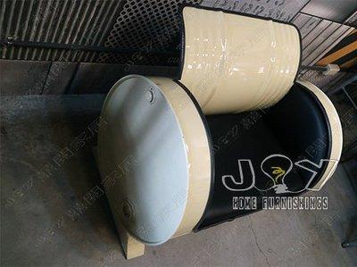 ~ 囍 閱 家 居 ~ 油桶 復古沙發 做舊風格 工業沙發家具 三人沙發 油桶沙發