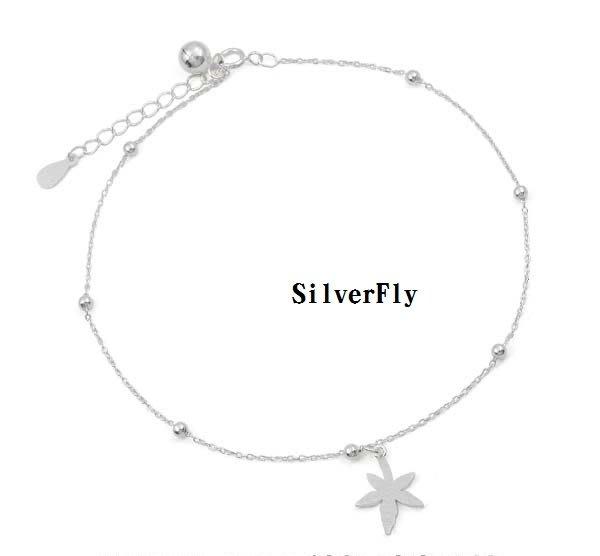 葉子純銀時尚腳鍊《 SilverFly銀火蟲銀飾 》