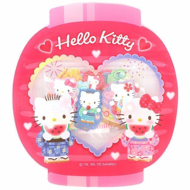 4165本通 夏季貼紙 -和風 凱蒂貓 雙子星 美樂蒂 4550337492062 下標前請詢問