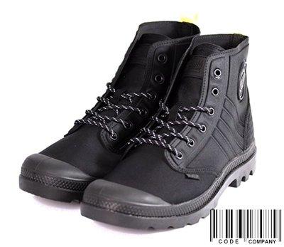 =CodE= PALLADIUM PAMPA AMPHIBIAN 針織尼龍潛水布皮革軍靴(全黑) 75988-035 男