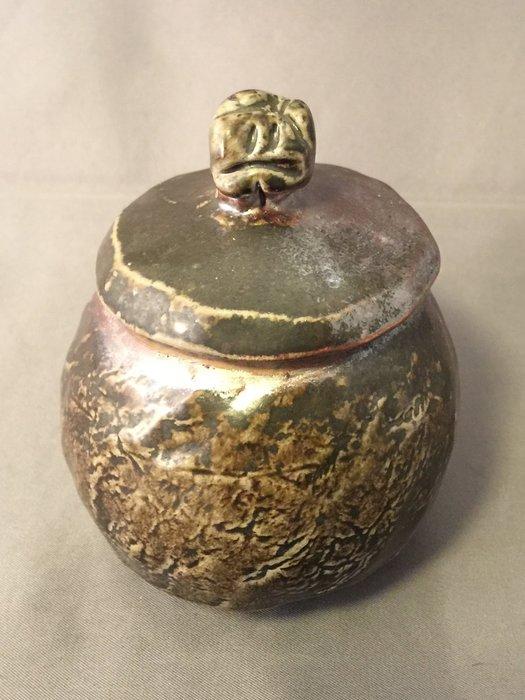 [裕山]陶&茶:土呆(劉瑞興)老師--柴燒茶倉td59(8.3*8.1*10.5公分)