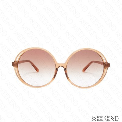 【WEEKEND】 LINDA FARROW Bianca Round 圓形 墨鏡 太陽眼鏡 棕色