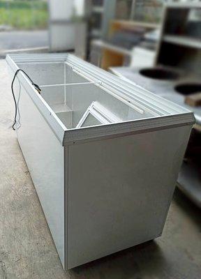 ○大員林2手貨○ 二手瑞興六尺玻璃對拉冰櫃/6尺玻拉式冷凍櫃/卧式冷凍櫥/冰淇淋/冰棒/冷凍冰箱/單相220V