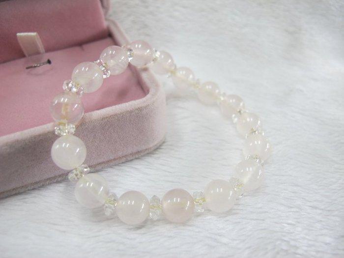 二手舖~ NO.42 天然粉水晶 水晶手鍊 項鍊 串珠