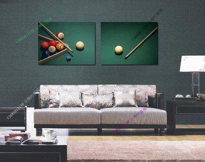 【50*70cm】【厚1.2cm】桌球歐式-無框畫裝飾畫版畫客廳簡約家居餐廳臥室牆壁【280101_512】(1套價格)