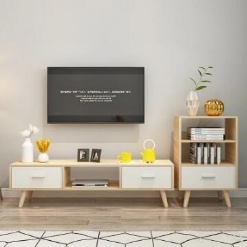 電視櫃  北歐簡約現代時尚電視櫃 客廳茶幾電視櫃組合 電視機櫃  JD   全館免運